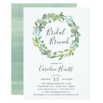 Eucalyptus Wreath Bridal Brunch Invitation