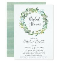Eucalyptus Wreath Bridal Shower Invitation