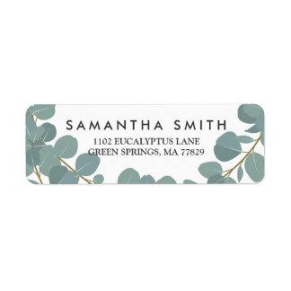 Eucalyptus Wreath Greenery Wedding Return Label