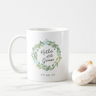 Eucalyptus Wreath Mother of the Groom Coffee Mug