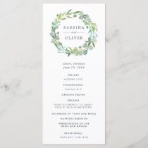 Eucalyptus Wreath Wedding Ceremony Program