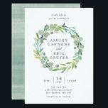 """Eucalyptus Wreath Wedding Invitation<br><div class=""""desc"""">Custom</div>"""