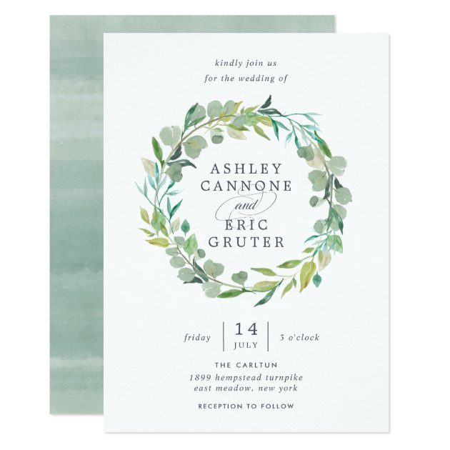 Silver Glitter Sparkles Floral Wedding Invitation