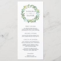Eucalyptus Wreath Wedding Menu Card