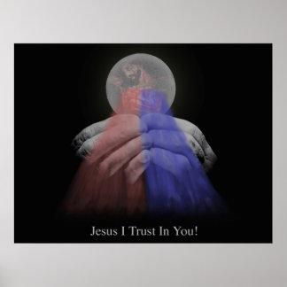 Eucaristía divina de la misericordia póster
