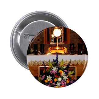 Eucaristía santa/el sacramento bendecido pin