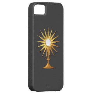 Eucaristía santa en Monstrance de oro Funda Para iPhone 5 Barely There