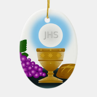 eucharist ceramic ornament