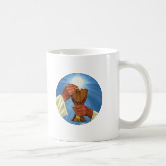 eucharist classic white coffee mug