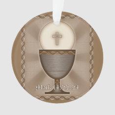 Eucharist Ornament at Zazzle