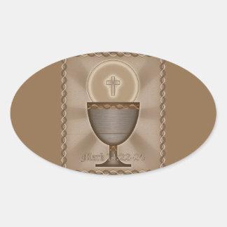 Eucharist Oval Sticker