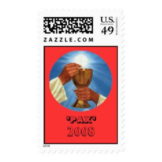 "eucharist, ""PAX"", 2008 Stamp"