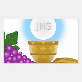 eucharist rectangular sticker
