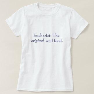 Eucharist: The Original Soul Food - T-Shirt, Navy T-Shirt