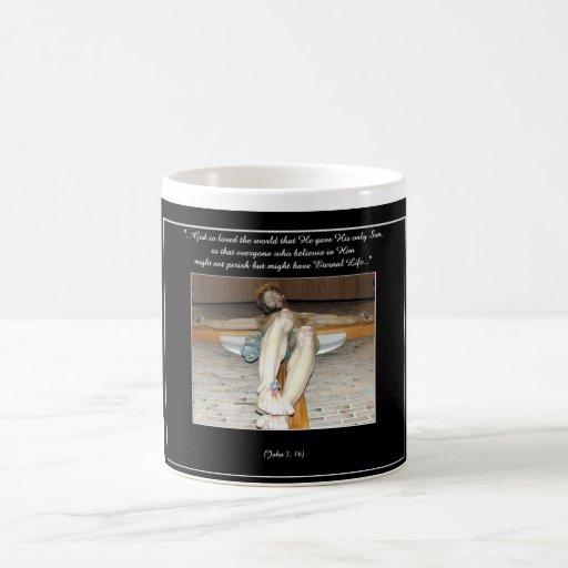Eucharistic Crucifix 11 Oz Magic Heat Color-Changing Coffee Mug