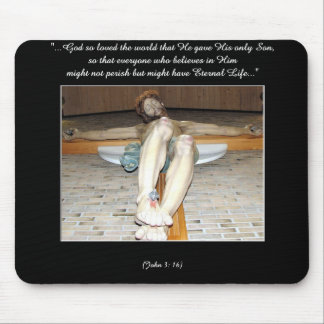 Eucharistic Crucifix Mouse Pad