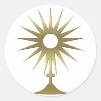 Eucharistic Monstrance Classic Round Sticker