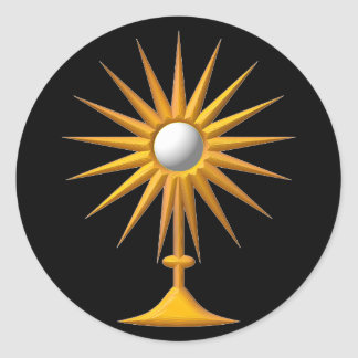 Eucharistic Monstrance Classic Round Sticker