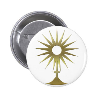 Eucharistic Monstrance Pinback Button