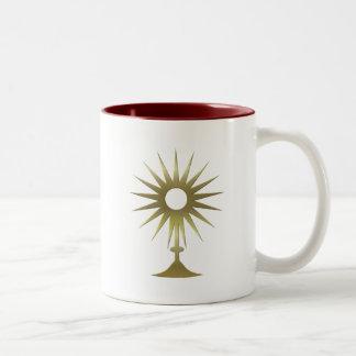 Eucharistic Monstrance Two-Tone Coffee Mug