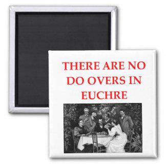 EUCHRE 2 INCH SQUARE MAGNET