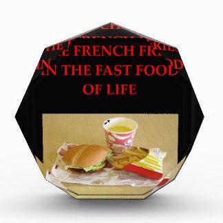 euchre acrylic award