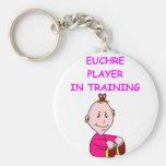 euchre baby key chain