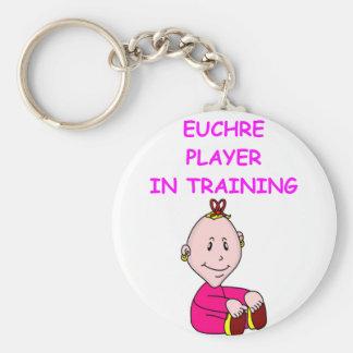 euchre baby keychain