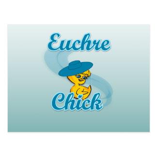 Euchre Chick #3 Postcard