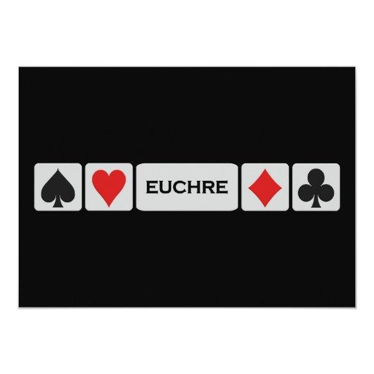 Euchre invitation - customize