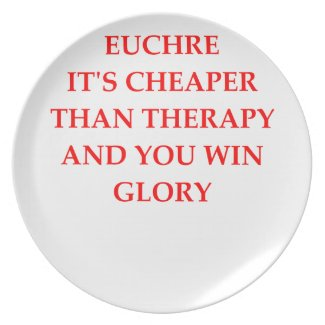 Euchre Party Plates