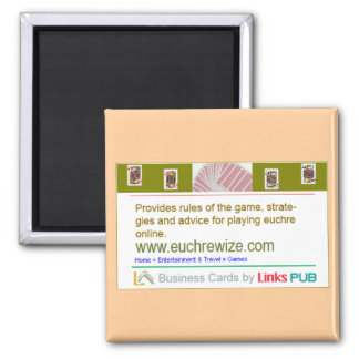 euchrewize business card 2 inch square magnet