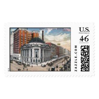Euclid Ave., Cleveland 1916 Vintage stamp