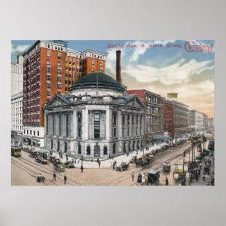 Euclid Ave, Cleveland, 1916 Vintage print