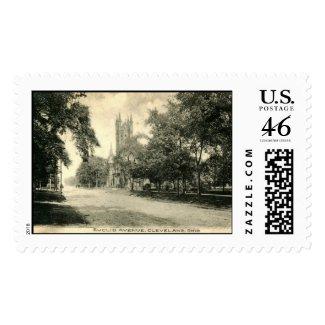 Euclid Ave., Cleveland, Ohio 1906 Vintage stamp