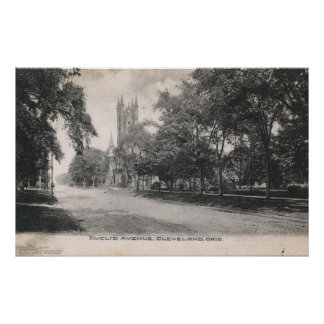 Euclid Ave., Cleveland, Ohio 1906 Vintage Poster