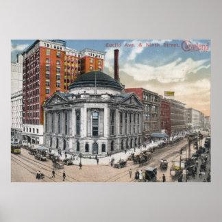 Euclid Ave, Cleveland, vintage 1916 Póster