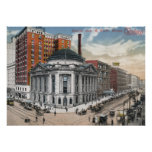 Euclid Ave, Cleveland, vintage 1916 Posters