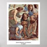 Euclid (Bramante) y estudiantes de Raffael Impresiones