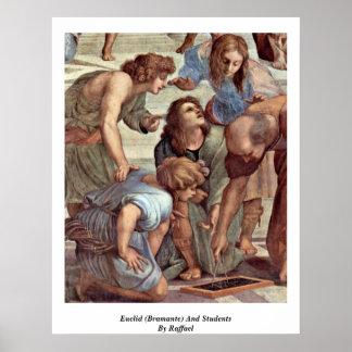 Euclid (Bramante) y estudiantes de Raffael Póster