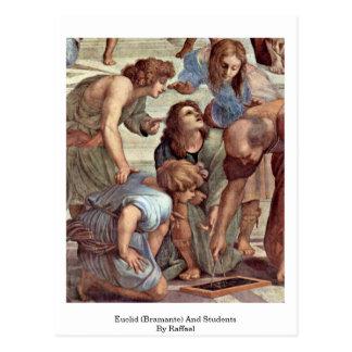 Euclid (Bramante) y estudiantes de Raffael Tarjetas Postales