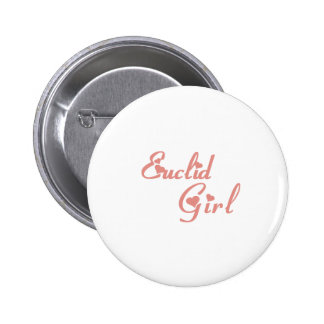 Euclid Girl tee shirts Pinback Buttons