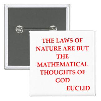 EUCLID quote Pinback Button