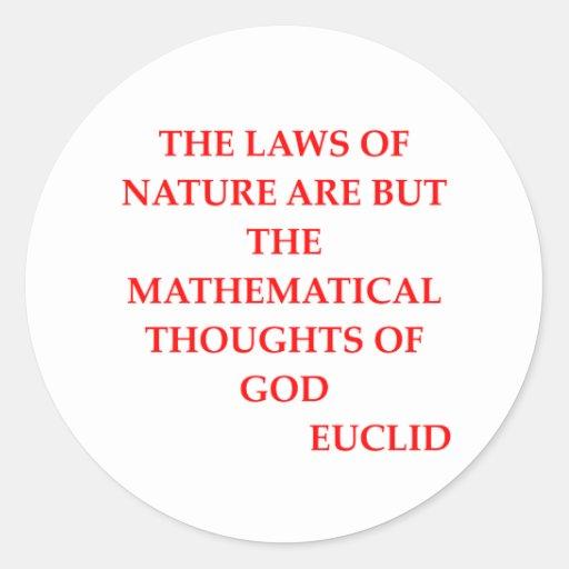 EUCLID quote Classic Round Sticker