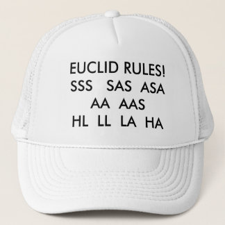 EUCLID RULES!SSS   SAS  ASA   AA  AAS  HL  LL  ... TRUCKER HAT