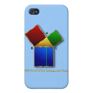 Euclid s Proof of the Pythagorean Theorem iPhone 4 Cover