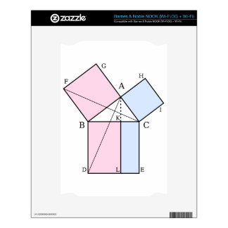 Euclid s proof of the pythagorean theorem decal for NOOK