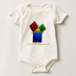 Euclid's Proof of the Pythagorean Theorem. Baby Bodysuit