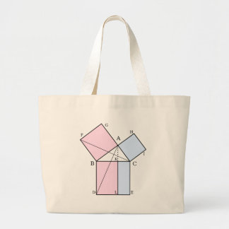 Euclid's proof of the pythagorean theorem bags