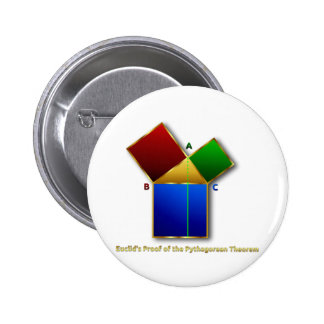 Euclid's Proof of the Pythagorean Theorem. Pinback Button